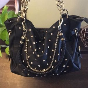 Black with gold purse
